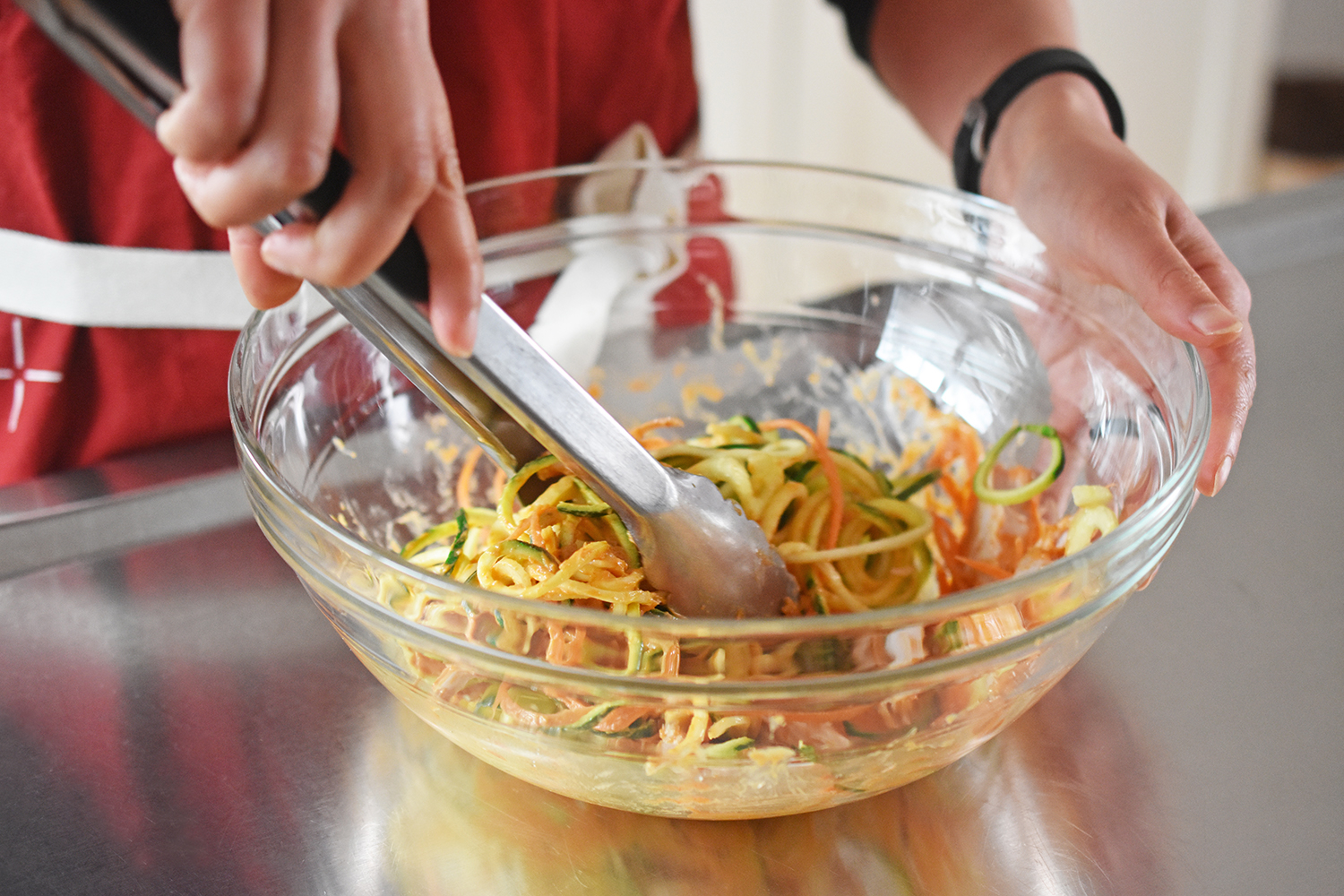 Spicy Thai Chicken Zoodle Salad by Michelle Tam http://nomnompaleo.com