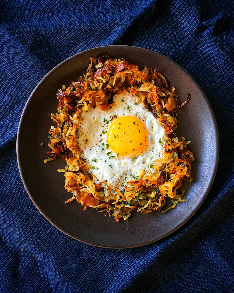 Crispy Swoodles with Bacon by Michelle Tam http://nomnompaleo.com